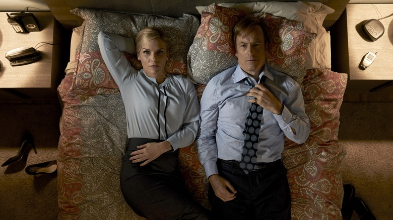Rhea Seehorn & Bob Odenkirk in Better Call Saul