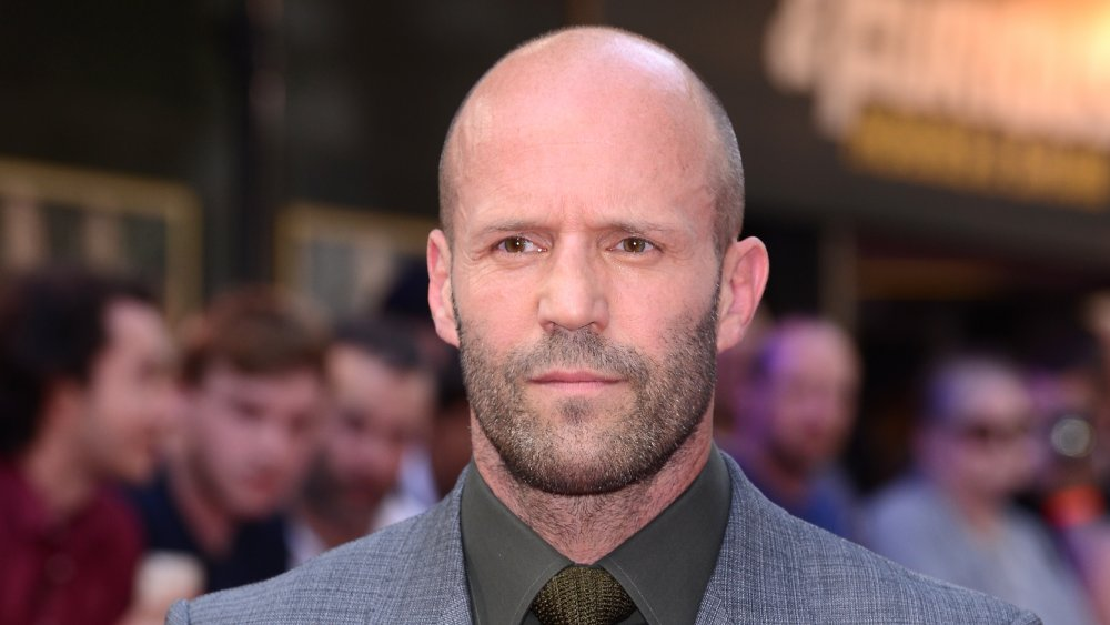 Jason Statham at the red carpet for Hobbs and Shaw