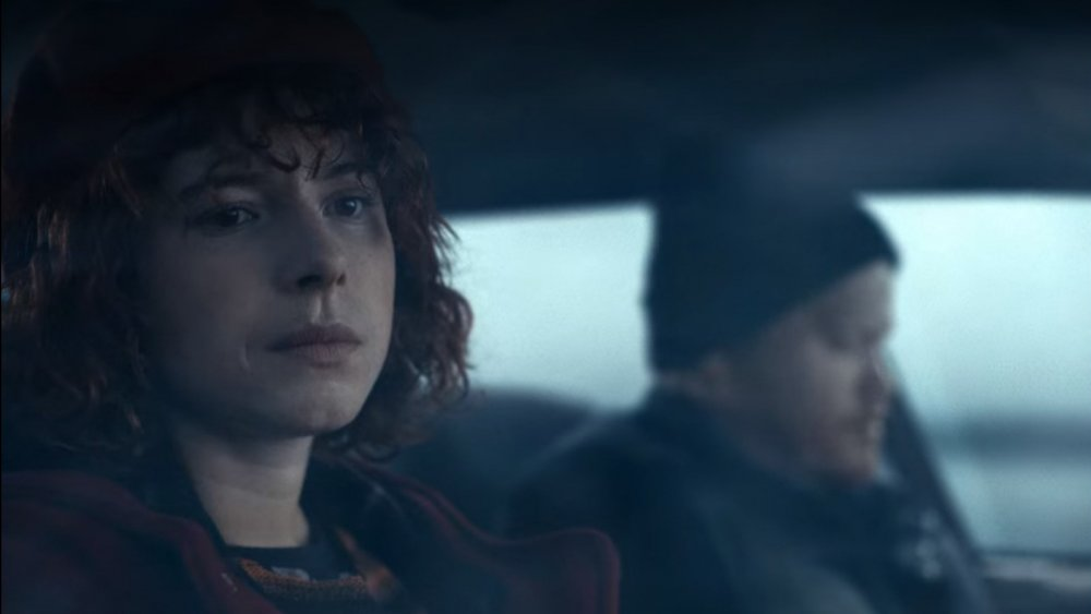 Jessie Buckley and Jesse Plimmons in I'm Thinking of Ending Things