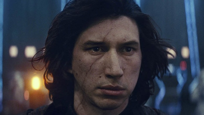 Adam Driver as Kylo Ren in The Rise of Skywalker