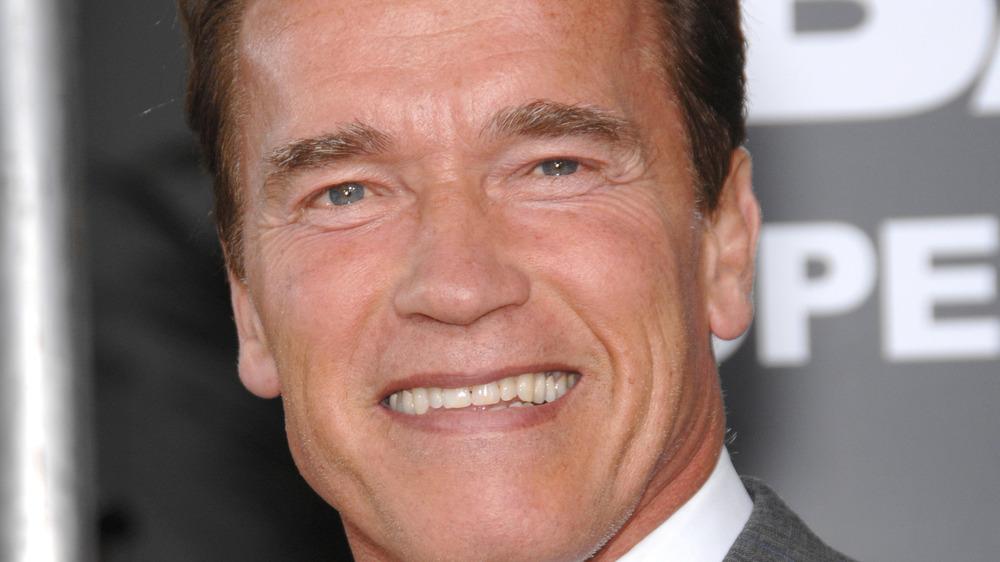 Schwarzenegger with a grin