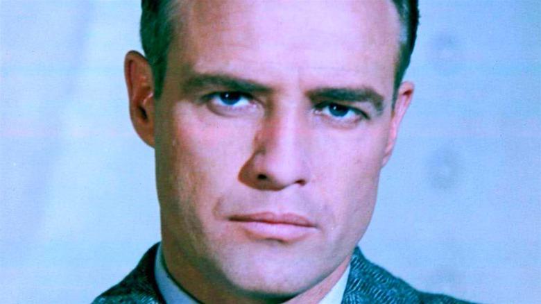 Marlon Brando scowling