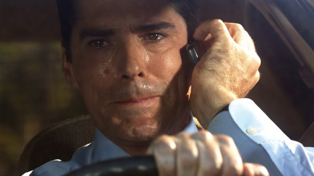 Hotch cries on the phone