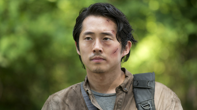 Steven Yeun as Glenn Rhee on The Walking Dead