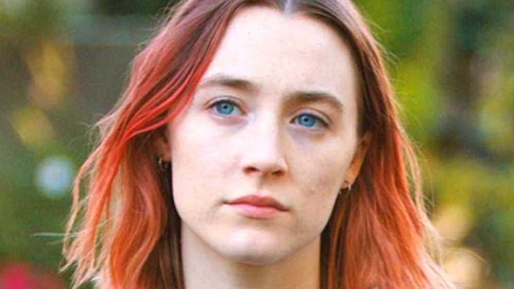 Saoirse Ronan with pink hair Lady Bird