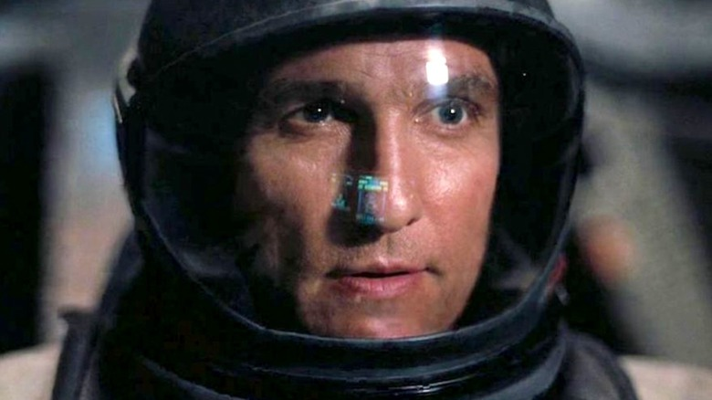 Matthew McConaughey in a space helmet