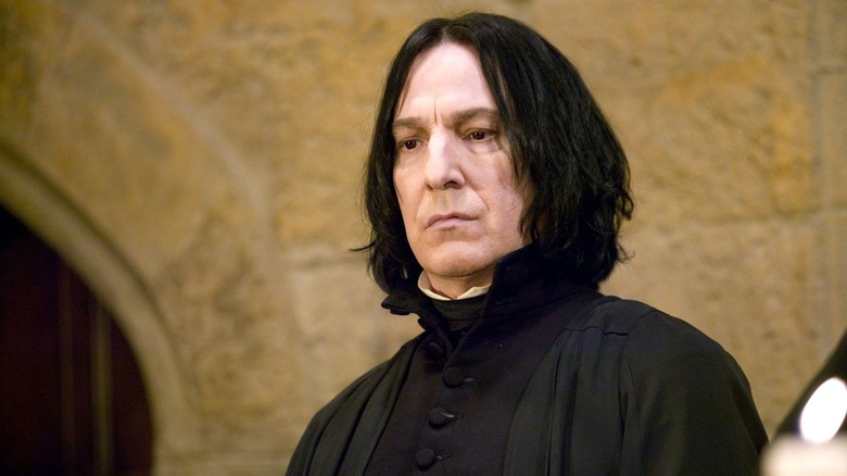 Snape frowning pensive