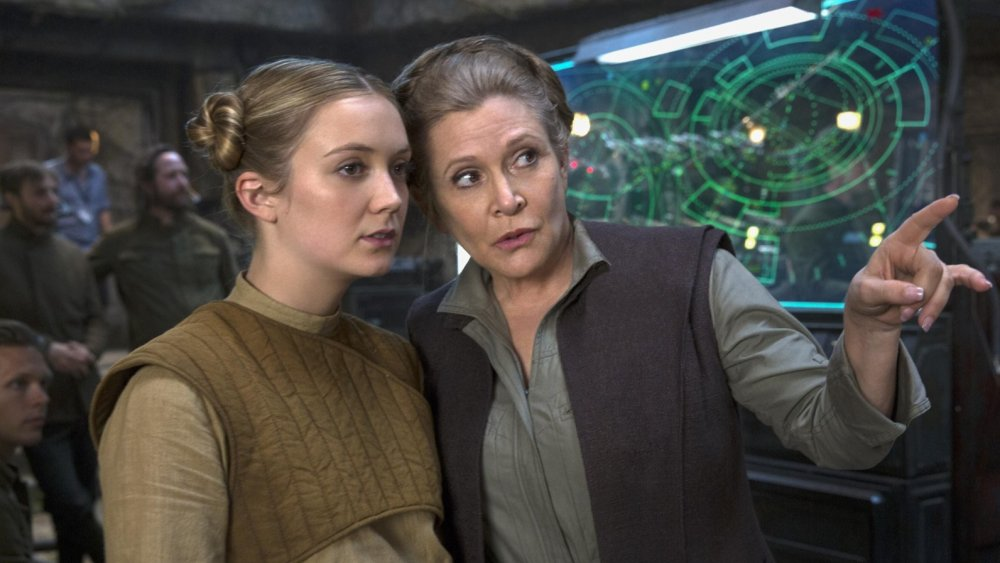 Billie Lourd and Carrie Fisher Star Wars
