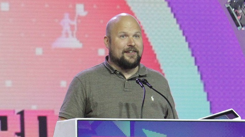 Notch receiving award at GDC