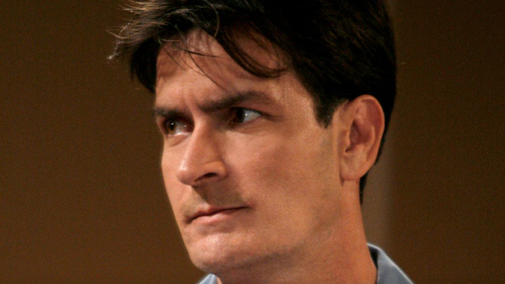 Charlie Sheen angry