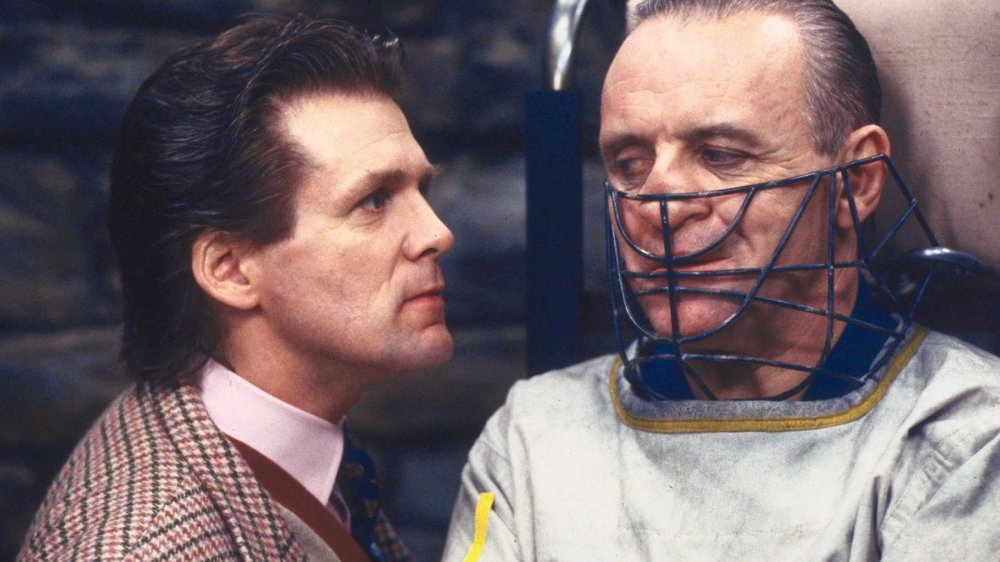 Anthony Heald and Sir Anthony Hopkins in Silence of the Lambs