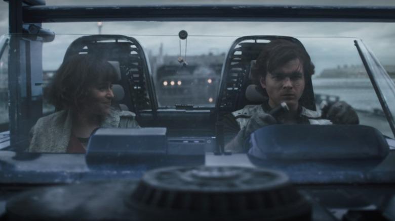 Alden Ehrenreich and Emilia Clarke in Solo A Star Wars Story