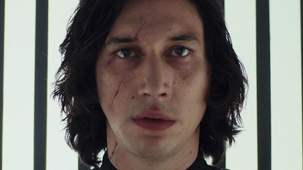 Kylo Ren staring blankly