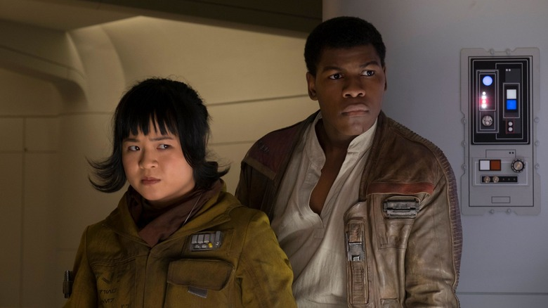 Kelly Marie Tran as Rose Tico and John Boyega as Finn in Star Wars: The Last Jedi