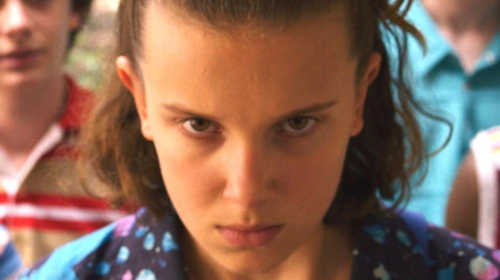 Millie Bobbie Brown as Eleven in Stranger Things