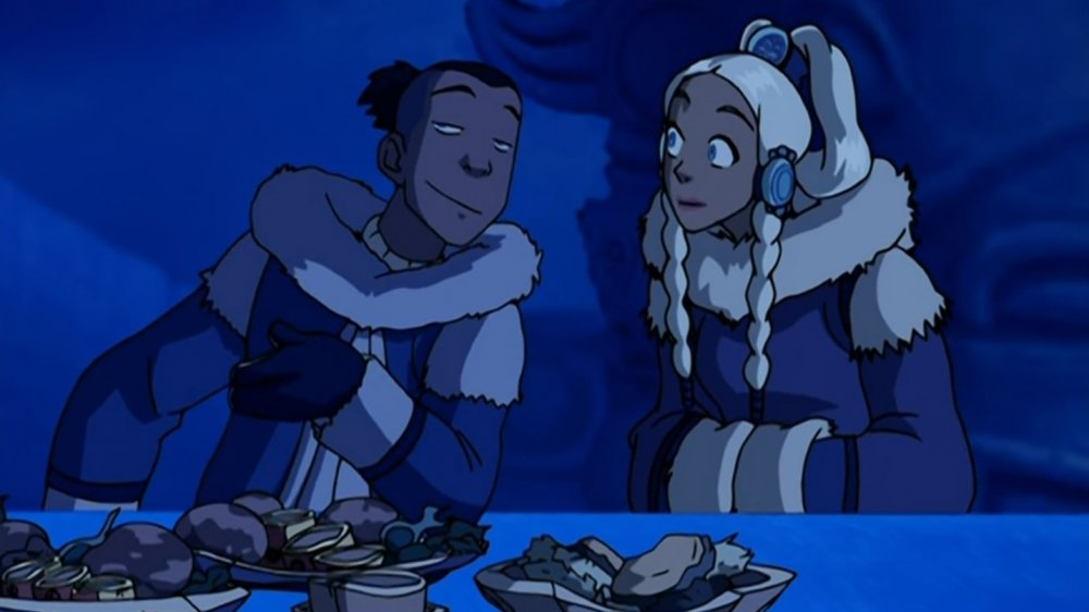 Sokka and Yue on Avatar: The Last Airbender