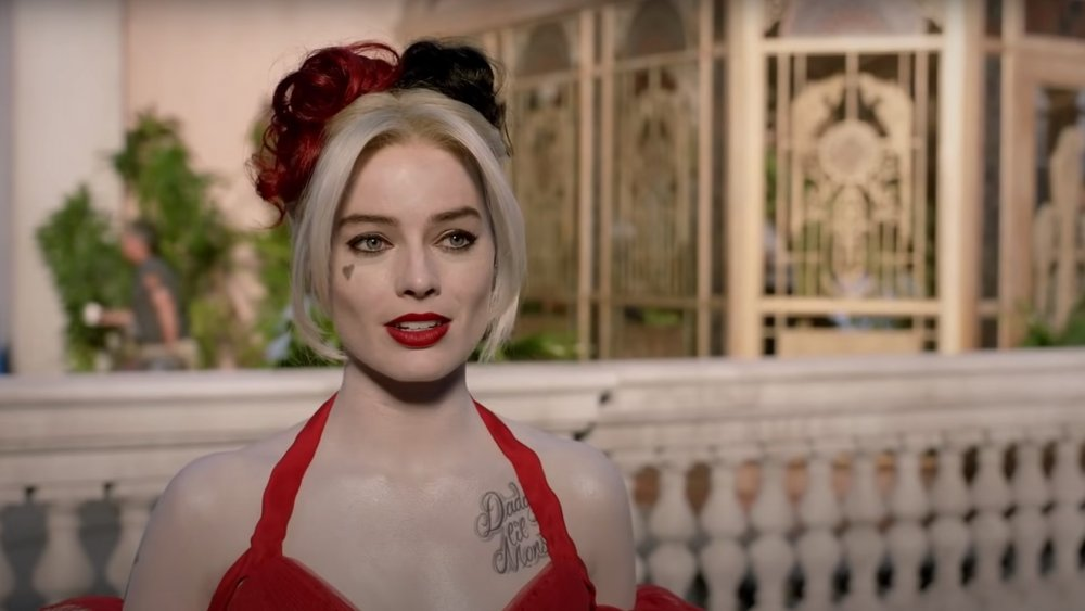 Margot Robbie behind the scenes as Harley Quinn in The Suicide Squad