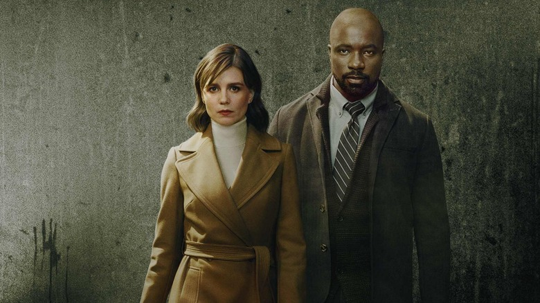 Katja Herbers and Mike Colter on Evil