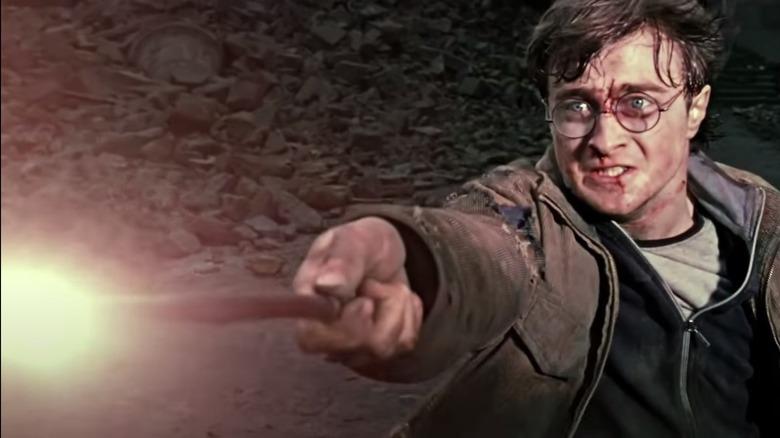Harry Potter casting spell