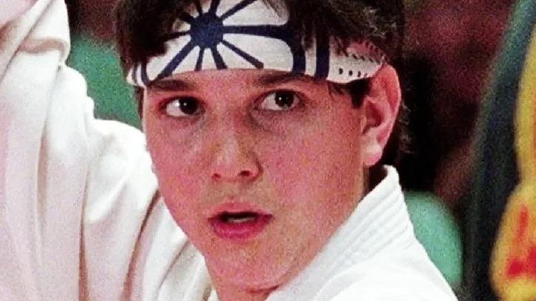Daniel LaRusso fighting in tournament