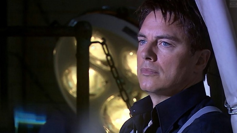 Captain Jack Harkness looking pensive
