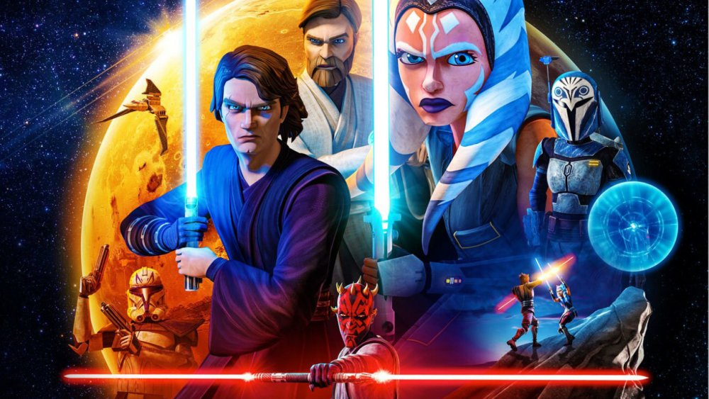 Season 7 promotional photo of Disney+ Star Wars: The Clone Wars