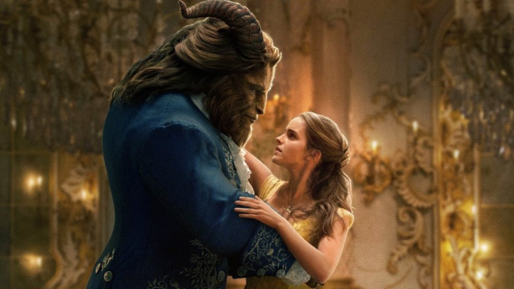 Dan Stevens' Beast and Emma Watson in Beauty and the Beast