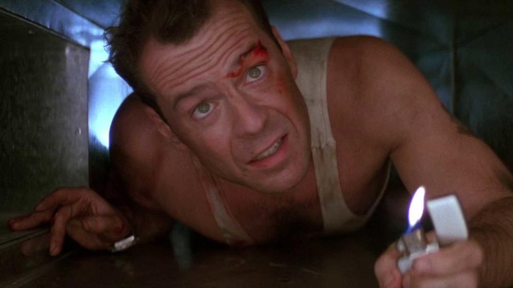Bruce Willis crawling