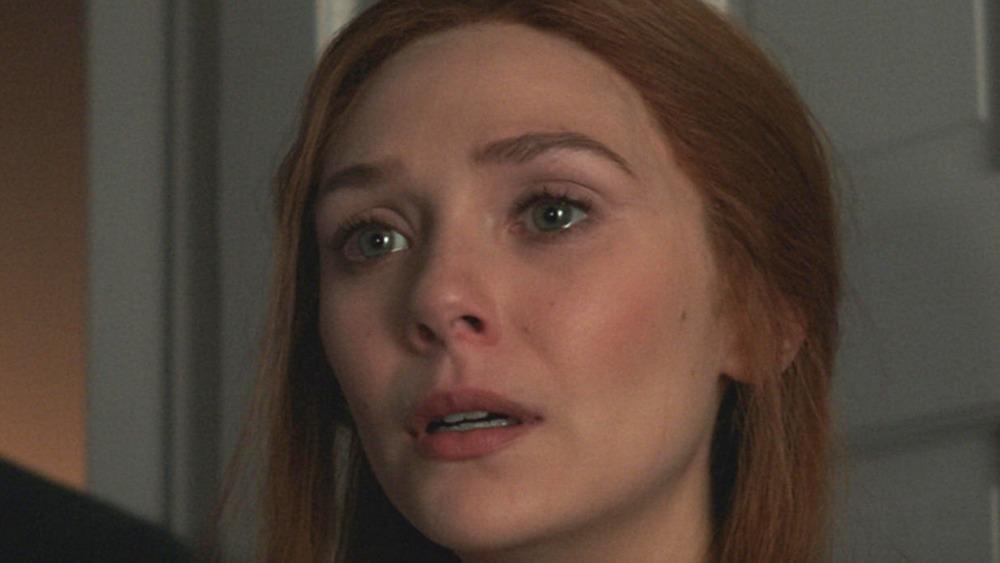 WandaVision Elizabeth Olsen sad