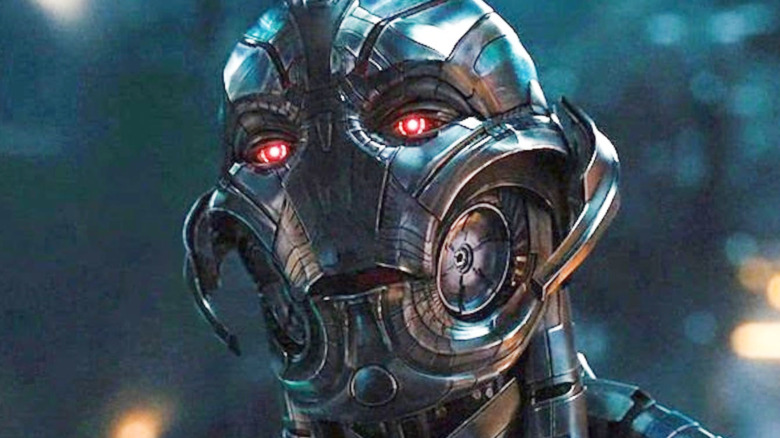 Ultron with red eyes