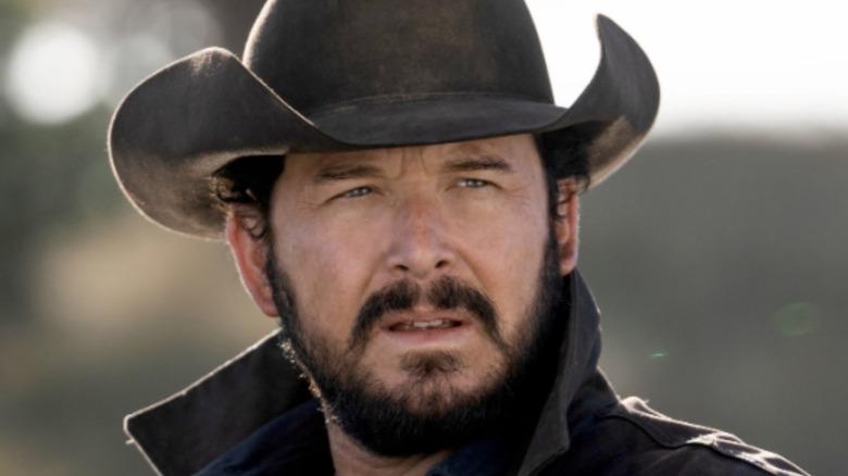 Rip wearing cowboy hat
