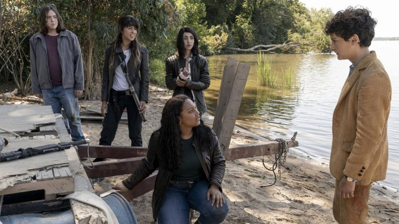The cast of The Walking Dead: World Beyond find themselves needing a boat