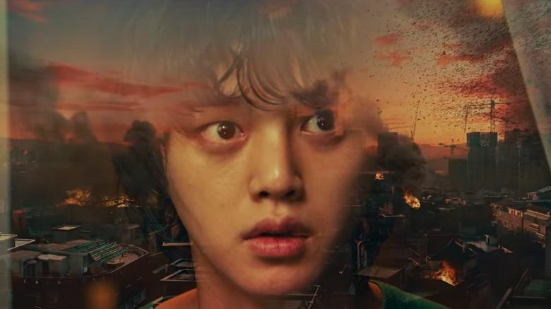 Cha Hyun-soo watching apocalypse
