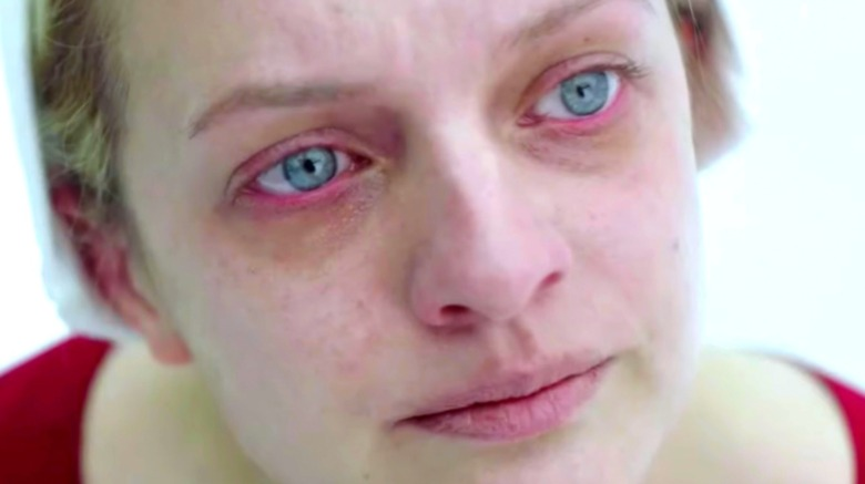 Elisabeth Moss in close-up