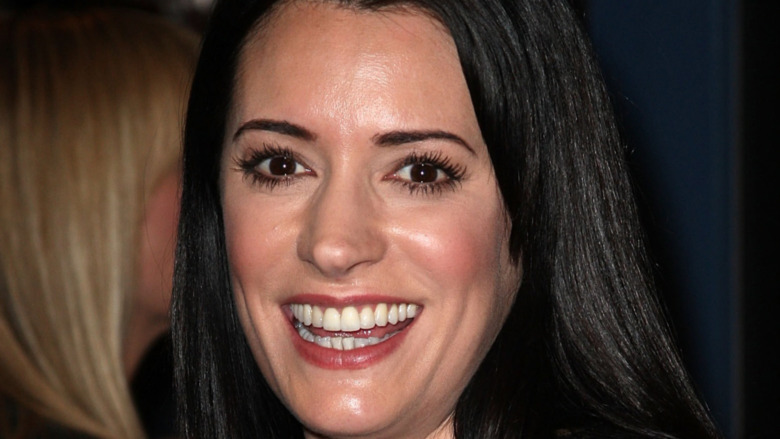 Paget Brewster smiling at a premiere