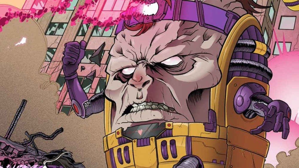 The villainous MODOK appears frequently in Marvel comics