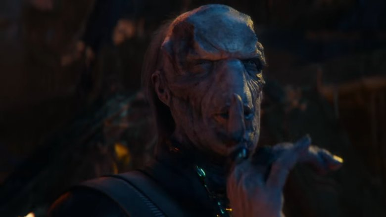 Tom Vaughan-Lawlor as Ebony Maw in Avengers: Infinity War