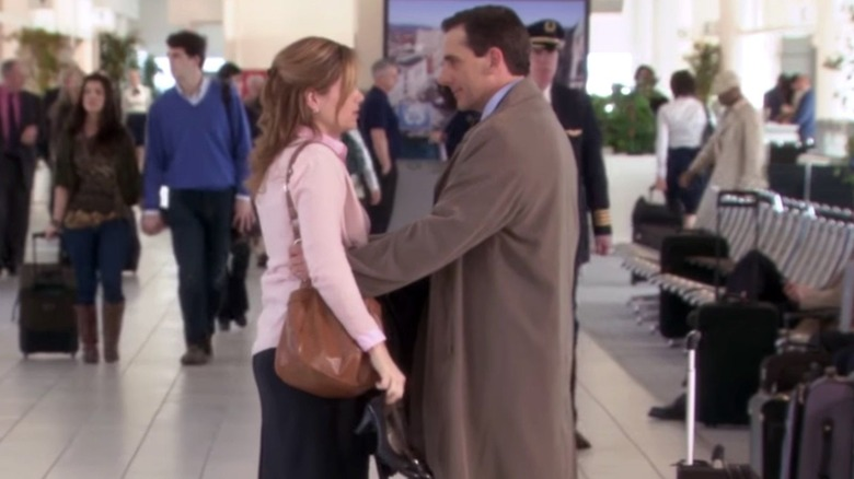 Jenna Fischer and Steve Carell on The Office