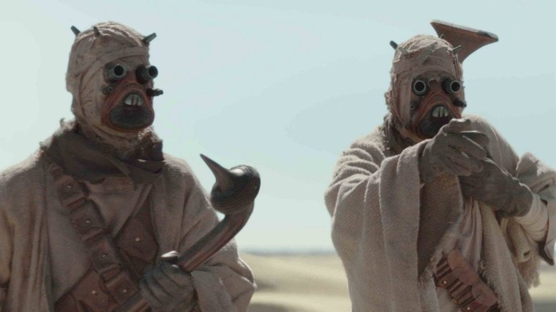 Tusken Raiders play an important role on Chapter 9 of The Mandalorian