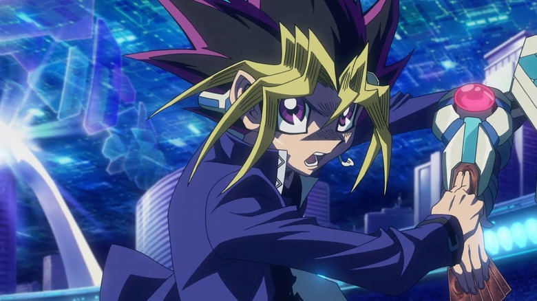 Yugi Moto/Yami Yugi in Yu-Gi-Oh!: The Dark Side of Dimensions