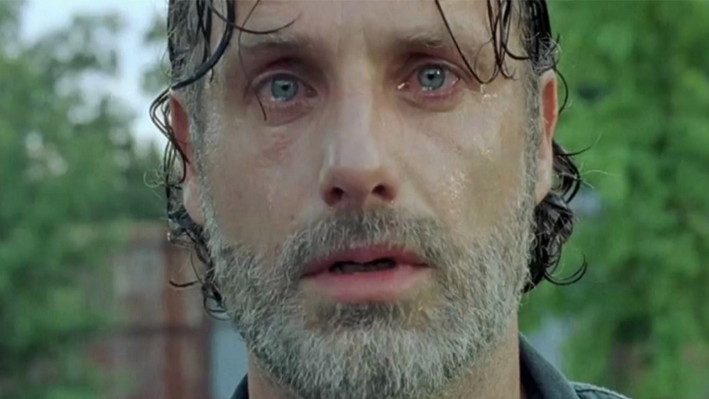 Rick Grimes crying with beard