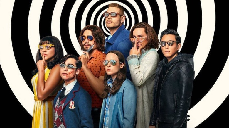 The cast of The Umbrella Academy