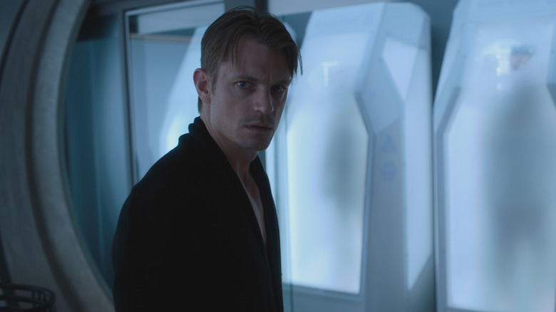 Joel Kinnaman as Takeshi Kovacs on Altered Carbon