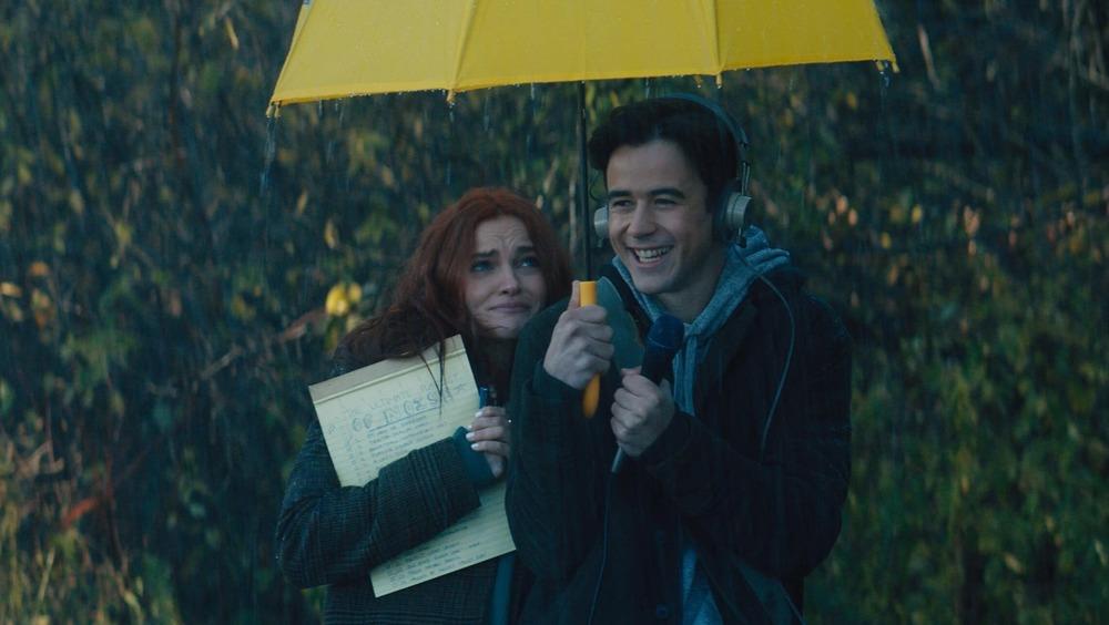 Wendy and Marcus under umbrella