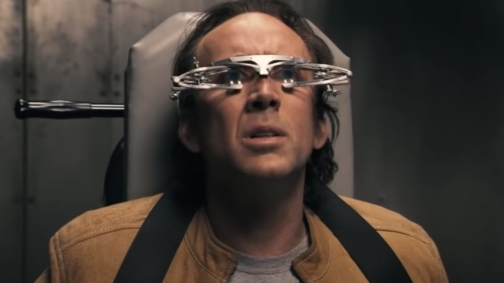 Nicolas Cage being subjected to radical testing in Next