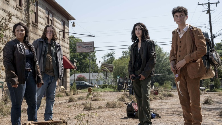 Aliyah Royale, Hal Cumpston, Alexa Mansour, and Nicolas Cantuin The Walking Dead: World Beyond