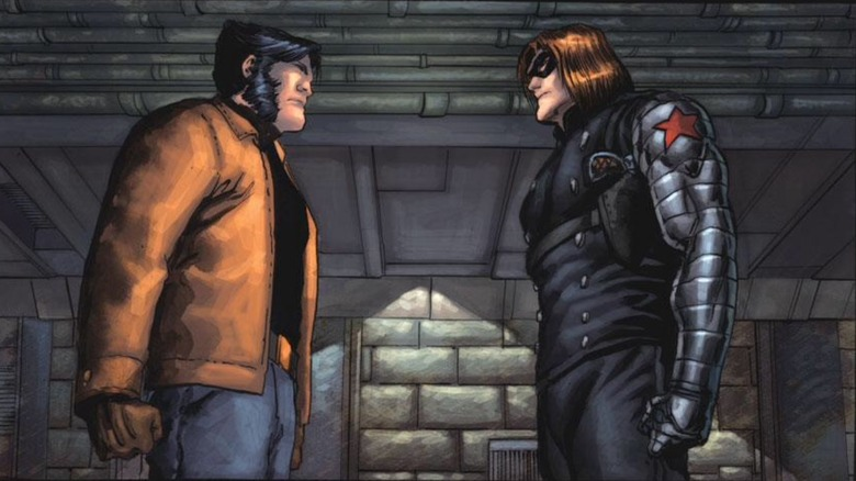Logan/Wolverine and Bucky Banes/The Winter Soldier