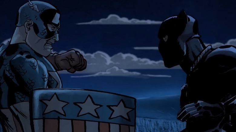 Captain America and Black Panther