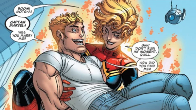 Star-Lord and Captain Marvel