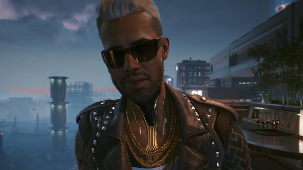 Cyberpunk 2077 character city